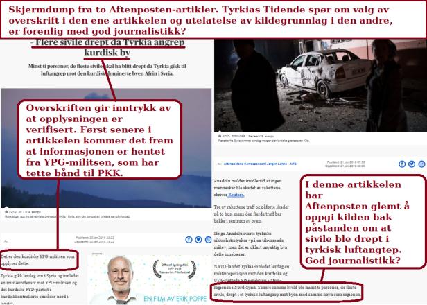 Skjermdump fra Aftenposten